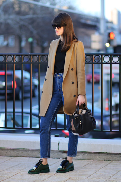Marni shoes - All Saints coat - American Apparel jeans - Burberry bag