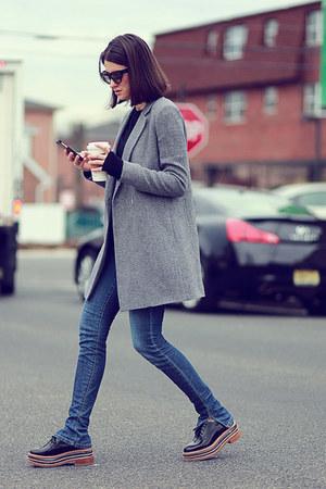 Massimo Dutti coat - Joes Jeans jeans