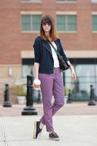 tory burch shoes - Juicy Couture bag - ray-ban sunglasses - CWonder pants