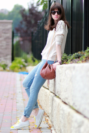 Prada sneakers - Mango jumper