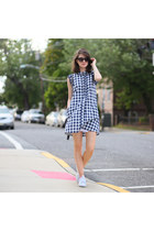 Anthropologie dress - Adidas sneakers