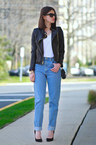 American Apparel jeans - Juicy Couture jacket - Giuseppe Zanotti heels