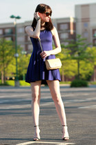 Aqua dress - tory burch bag - Zara heels