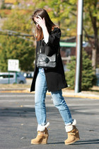 ASH boots - Juicy Couture coat - J Brand jeans