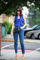 Gucci shoes - American Apparel jeans - Gucci bag - Anthropologie top