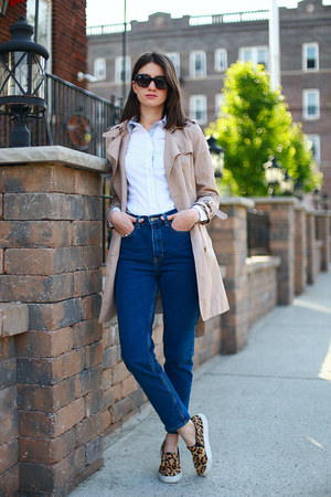 Steve Madden shoes - banana republic coat - American Apparel jeans