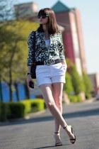 Zara jacket - Juicy Couture sunglasses - Zara heels