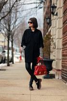 Jeffrey Campbell shoes - Marc Jacobs bag - leather vince pants