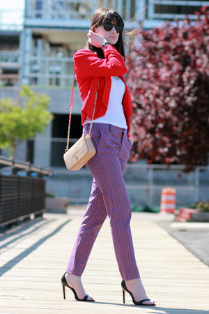 Mango blazer - Zara shoes - tory burch bag - Juicy Couture sunglasses