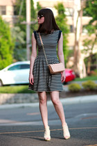 tory burch bag - Miss Sixty shoes - French Connection UK dress