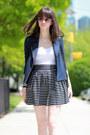 C-wonder-jacket-ray-ban-sunglasses-aqua-skirt-zara-heels