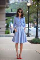 French Connection skirt - Gap shirt - Jimmy Choo bag - Miu Miu heels