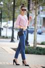 American-apparel-jeans-aqua-sweater-gucci-bag-giuseppe-zanotti-heels