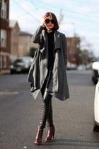 All Saints coat - leather vince pants