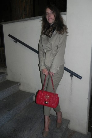 Moschino bag - Brandy & Melville blazer - Fendi scarf - Tally Weijl pants