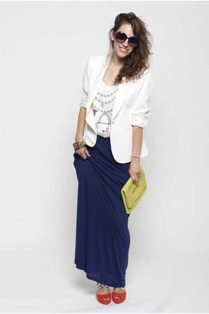 Zara blazer - H&M bag - Stradivarius sandals - Tosca Blu glasses