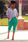 Chartreuse-thrift-pants