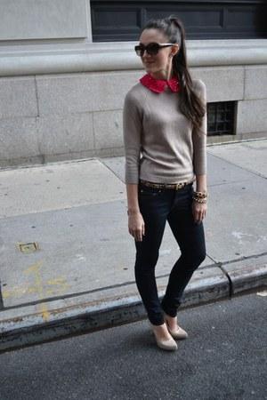 Forever 21 sweater - C Wonder jeans - leopard C Wonder belt