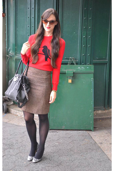 lovebirds C Wonder sweater - black Forever 21 tights