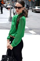 chiffon American Apparel blouse - leather Michael Kors bag - C Wonder belt