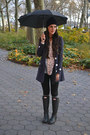 Rain-boots-hunter-boots-black-h-m-jeans-anthropologie-hat