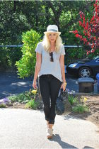 black Gap pants - silver Gap top - beige Jeffrey Campbell shoes