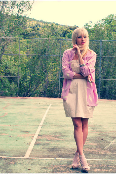 pink light pink H&M dress - pink light pink H&M shoes