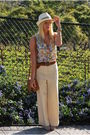 White-vintage-pants-white-urban-outfitters-top-brown-zara-belt-silver-aldo