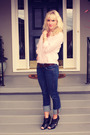 Pink-vintage-top-blue-true-religion-jeans-black-aldo-shoes