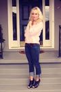 Pink-vintage-top-blue-true-religion-jeans-black-aldo-shoes