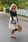 Black-forever-21-top-white-vintage-skirt-black-steven-by-steve-madden-shoes