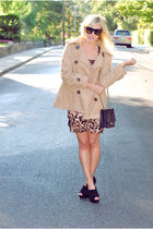 beige Forever 21 jacket - beige Arden B dress - black Aldo shoes