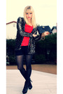 Gold-vintage-cardigan-red-forever-21-top-black-forever-21-shorts-black-beb