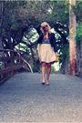 Beige-h-m-skirt-beige-nine-west-shoes-red-h-m-top-black-h-m-jacket