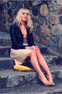 Beige-h-m-skirt-beige-nine-west-shoes-red-h-m-top-black-h-m-jacket