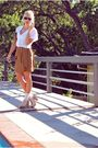 White-queens-wardrobe-blouse-brown-zara-skirt-beige-jeffrey-cempbell-shoes