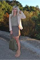 beige Zara shoes - beige H&M blazer