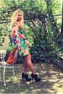Red-h-m-dress-gray-steve-madden-shoes-orange-anthropologie-accessories