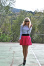 White-h-m-top-pink-modcloth-skirt-beige-modcloth-tights-gray-steve-madden-