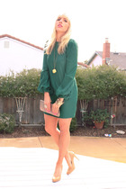 green luna Elizabeth and James dress - beige Nine West shoes