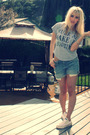 Silver-forever-21-t-shirt-blue-vintage-levis-shorts-white-converse-shoes