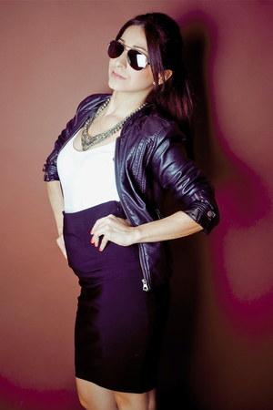 Zara jacket - Dolce Gabbana sunglasses - Zara skirt