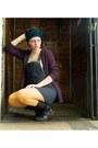Yellow-dorothy-perkins-tights-dark-brown-zahra-boots-dark-gray-dress