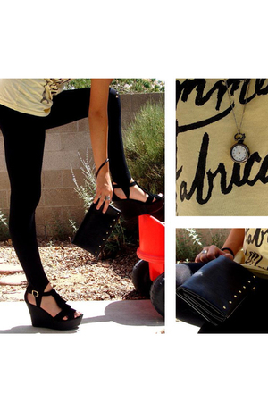 Spark in the Dark t-shirt - leggings - purse - Mia shoes - necklace