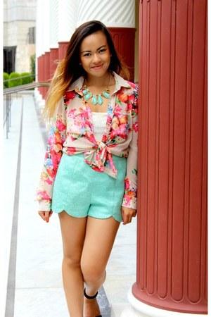 asos heels - Forever 21 blouse