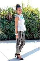 peplum top Forever 21 top - Forever 21 pants - asos heels