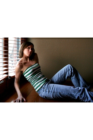 JC Penny top - American Eagle jeans