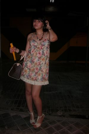 BLANCO shoes - Bershka dress - LV bag - H&M necklace