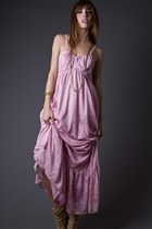 Light Pink Telltale Hearts Vintage Dresses