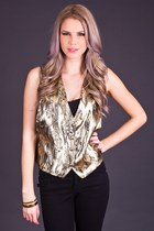 Vintage Heavy Metal Vest in Gold